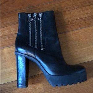 Zipper Platform Boot